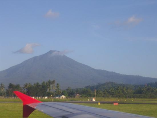 Manado, Indonesia: Volcano Mountain from Plane