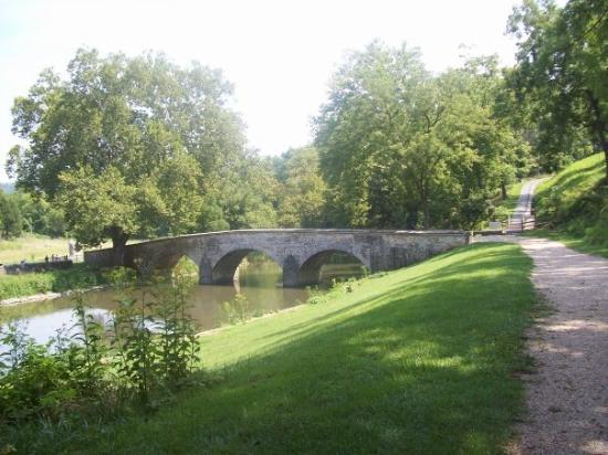 Antietam National Battlefield: Burnside Bridge, named for Union Gen. Burnside.  Burnside was ordered to engage Confederate Gen.