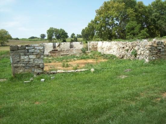 Antietam National Battlefield: Located on the newly acquired land, this is the foundation of a farm house that was located west