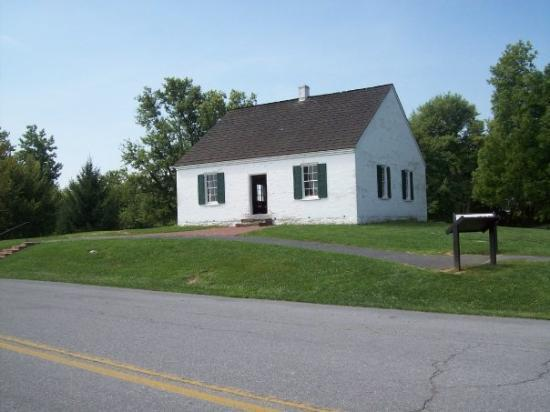 Antietam National Battlefield: This is the Dunker Church, located north of Sharpsburg along the Hagerstown Turnpike.  This chur