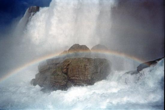 White Water Walk : Rainbows below the falls
