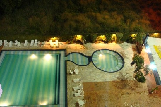 Foz de Iguazú, PR: viw of the pool at night from our room