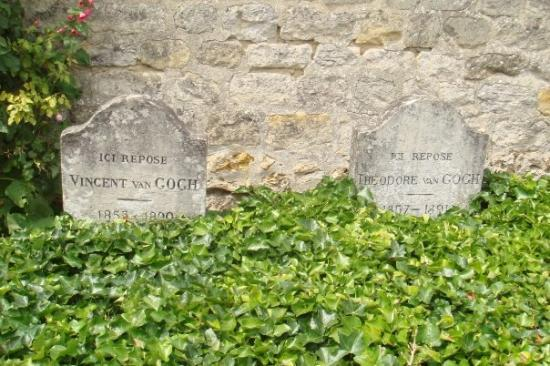 Auvers-sur-Oise, Frankrike: Vincent Van Gogh and his brother's tombs.