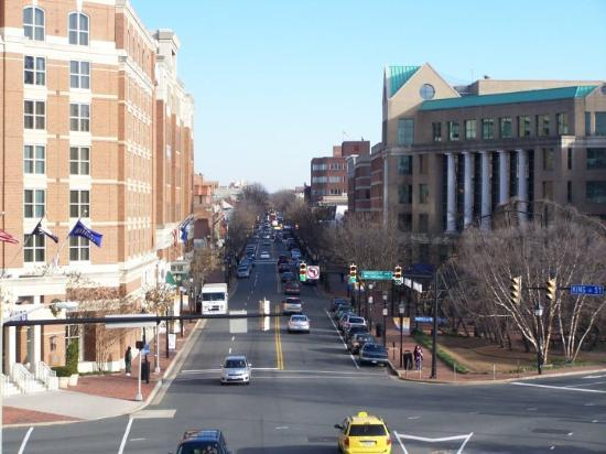 King street Alexandria Va. as see from the metro station