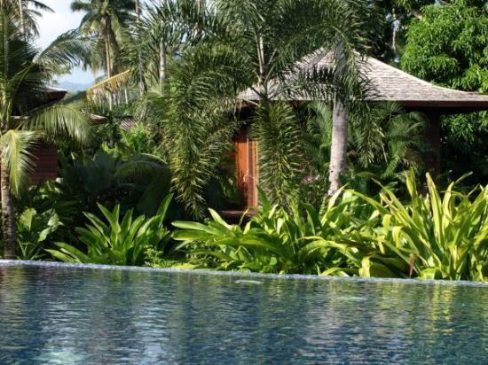 Gajapuri Resort & Spa: Our villa, by the pool with a view to the beach and surrounded by jungle!
