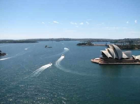 Sydney Harbour: Opera House from the Harbour Bridge