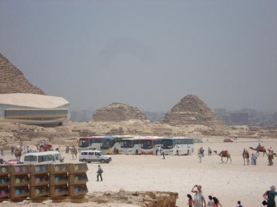 Giza, Egypt: The family pyramids behind the Big Pyramid