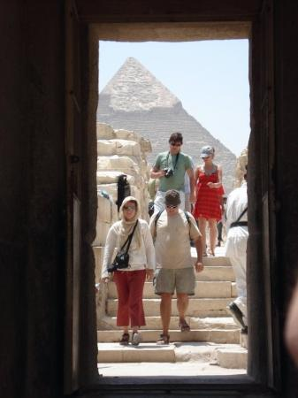 Giza, Egypt: The walkway to the Sphinx