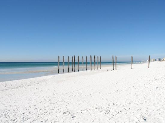Destin, FL: Vita strand. Som snö...