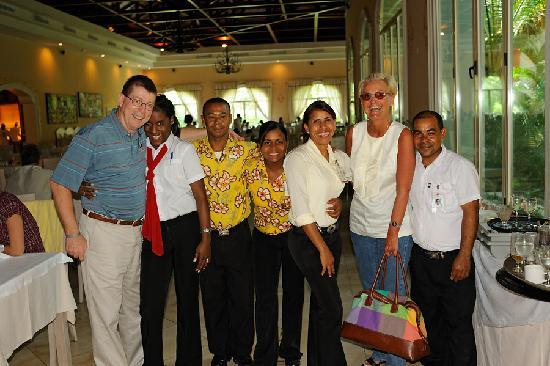 Majestic Colonial Punta Cana: The great dining room staff