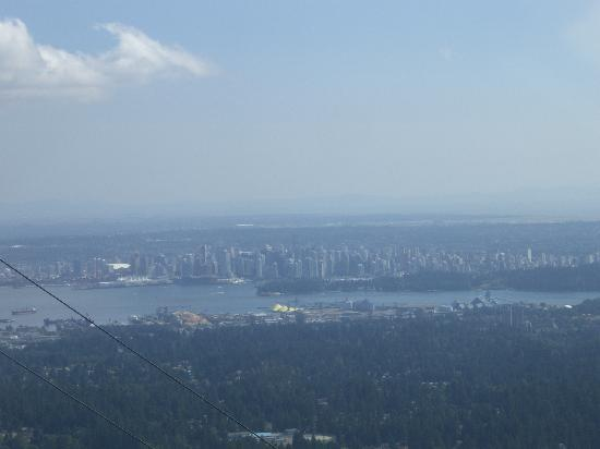 Grouse Mountain: view from gondola