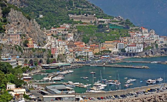 View of Amalfi, in the Amalfi Coast