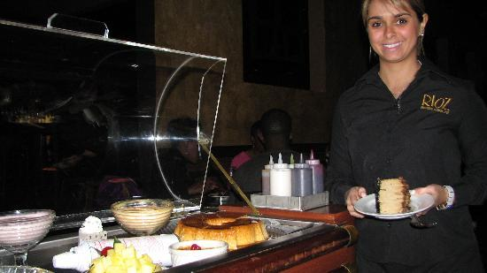 Rioz Brazilian Steakhouse: Dessert Cart