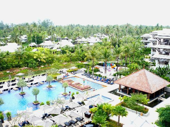 Marriott's Mai Khao Beach : POOL VIEW FROM TOP