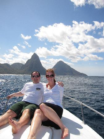 Joe Knows Tours: Pitons from the boat
