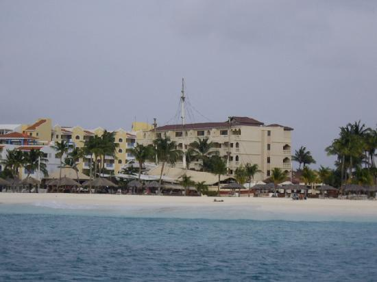 Strea Charters: View of the low rise from the water