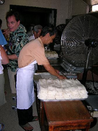 Hawaii Food Tours: Hand-rolling noodles - you'll see it nowhere else!