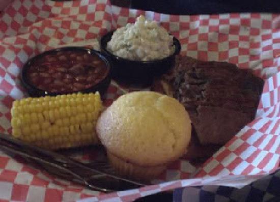 Famous Dave's: Brisket dinner