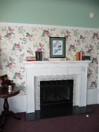 White Swan Inn: electric fireplace