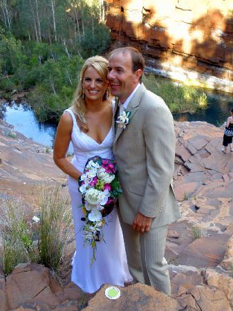 Karijini Eco Retreat: Bride and Groom in the gorges.