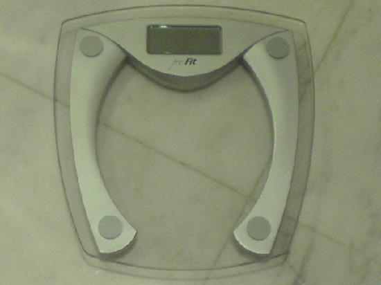 Lanson Place Hotel: digital weighting measurer