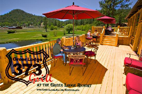 The 373 Grill Restaurant at the Greer Lodge Resort: 373 Grill decks at the Greer Lodge Resort