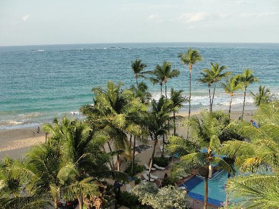 San Juan Marriott Resort & Stellaris Casino: view form our cabanna corener room the marriott resort.