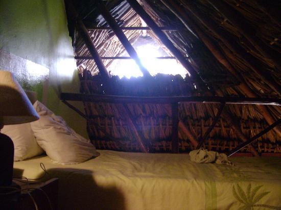Hotel Playa del Karma: Loft area.  1 of 2 beds.  Lots of room. netting over window