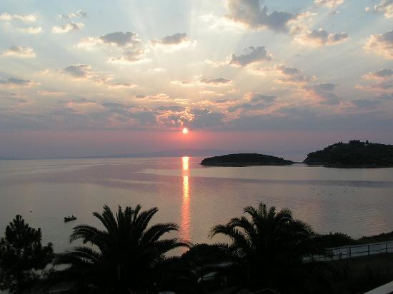 Ormos Panagias, กรีซ: Blick vom Balkon