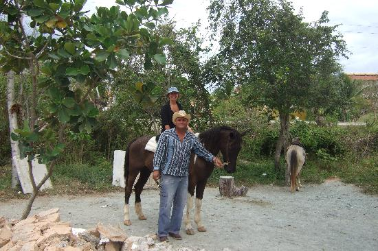 Sol Rio de Luna y Mares: Our horse riding friend