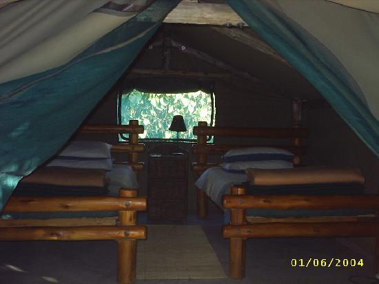 Palapye, Botswana: one of our pre-erected tents