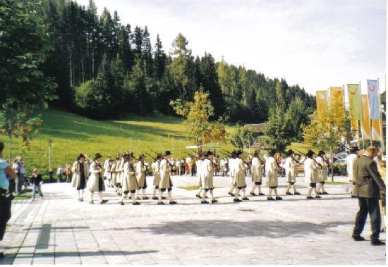 Werfenweng, Østerrike: festivities in the village