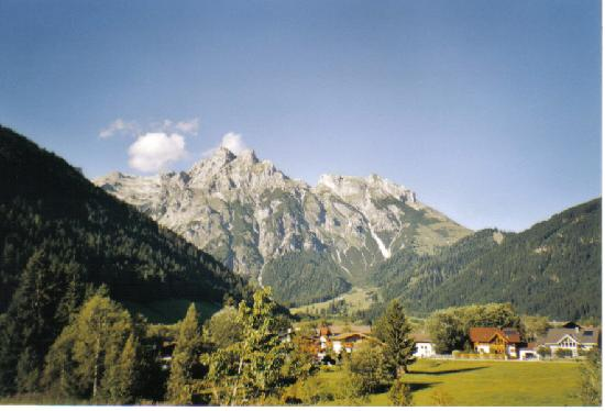the mountains of Werfenweng
