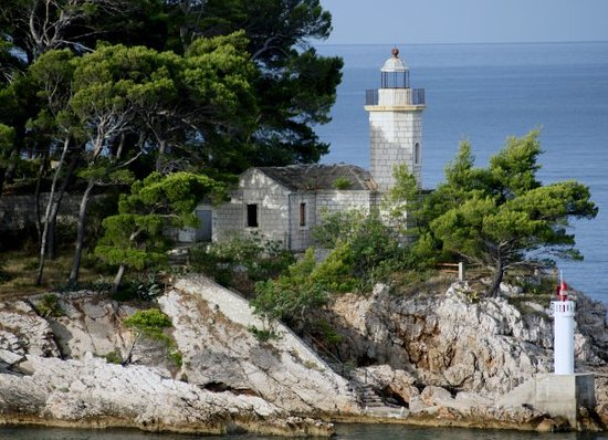Savudrija, Kroasia: Lighthouse on Island off the Coast from Dubrovnik, Croatia