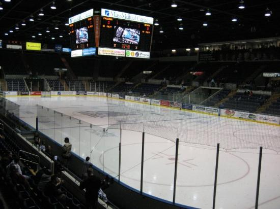 Springfield, MA: Top of Section 4 in the MassMutual Center.