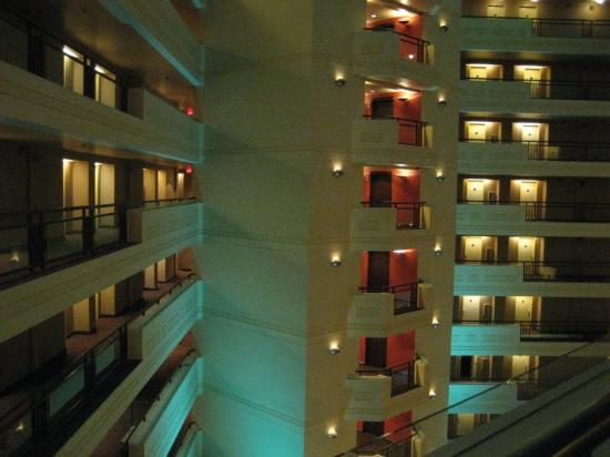 "Sheraton Springfield at Monarch Place: This was really cool. The lights change colors. Try to catch that after some ""Blues and Booze at"