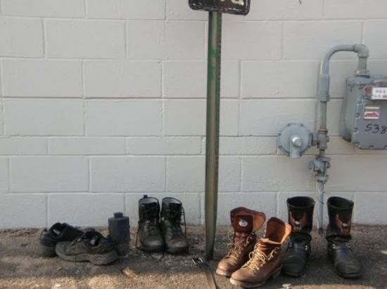 Sturgis, SD: who only threw away 1 moon boot?