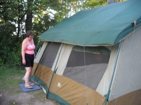 Brimley State Park: the tent at brimley