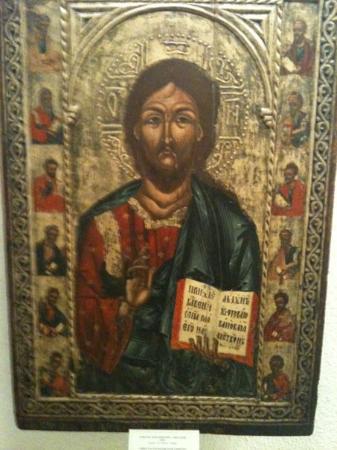Sofia, Bulgaria: Jesus Christ painting from 17th century in St. Alex nivski art museum.