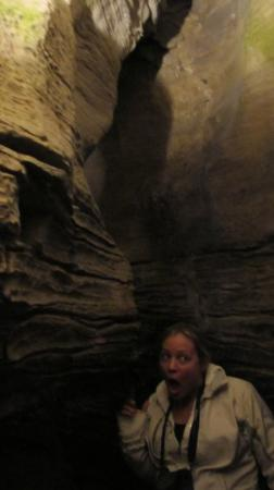 "Howes Cave, estado de Nueva York: ""Don't touch the cave walls"" the tour guide"