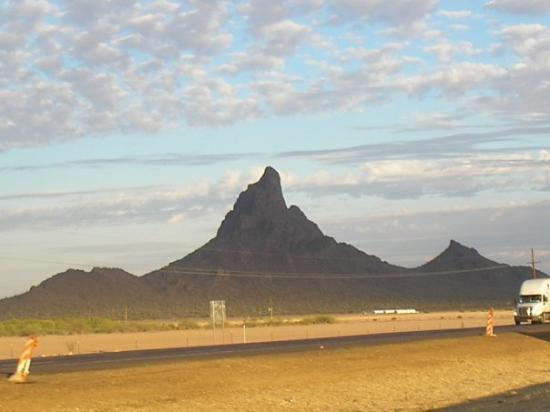 Driving on I-10 in between Phoenix and Tucson is God's art gallery!