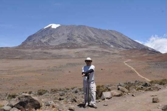 Kilimanjaro National Park, Tanzania: short hike just over my right shoulder. Ya right!!