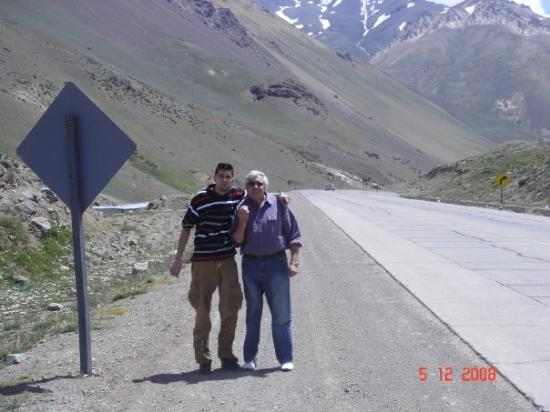 Mendoza, Argentina: Dad and I in the crossing of the Andes