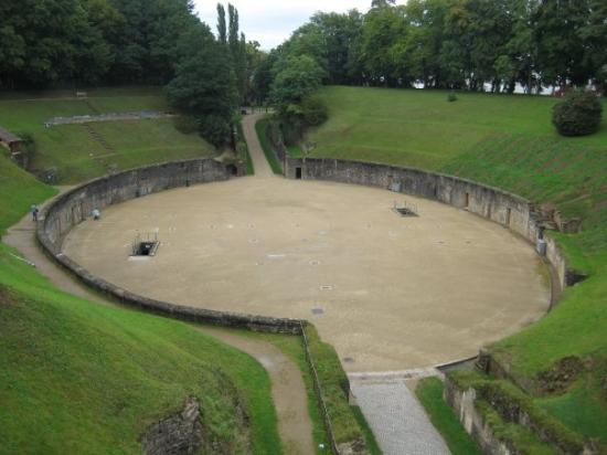 Old Roman Amphitheater in Trier.