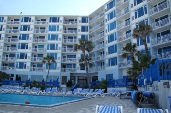 The Islander Beach Resort New Smyrna Beach Florida view from the pool side.
