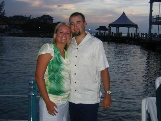 Sandals Ochi Beach Resort: Out on the pier after dinner!!!