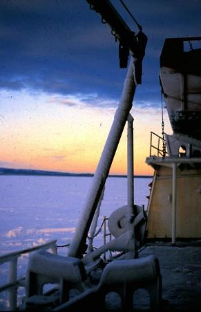 McMurdo Station: Entering the Ross Sea. Deep Freeze '80