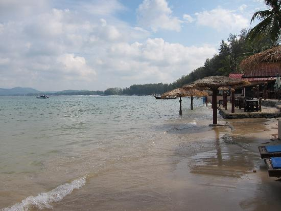 Andaman Bangtao Bay Resort: restaurant, high tide