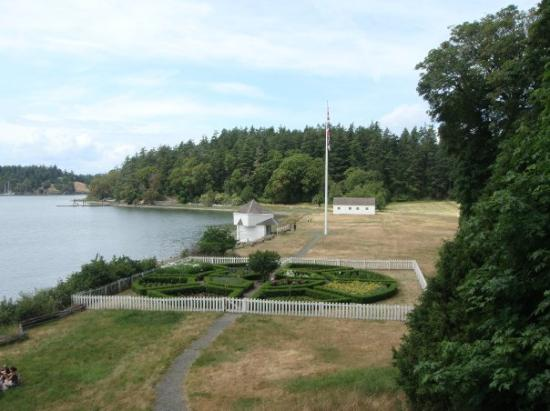 Roche Harbor, WA: The British Camp on San Juan Island (Looking down from where the Officer's Quarters used to be l
