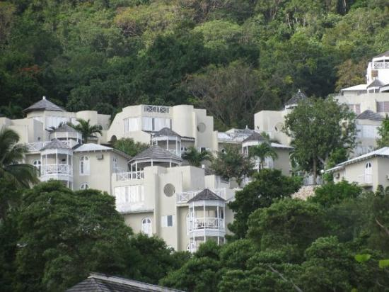 Houses on the hill overlooking the port in Ocho Rios, Jamaica